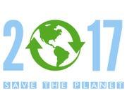 Сохраньте планету 2017 иллюстрация штока
