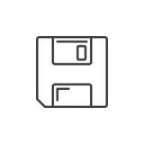 Сохраньте символ линия значок гибкого магнитного диска Стоковые Изображения