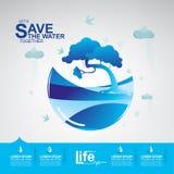Сохраньте экологичность концепции вектора воды Стоковое фото RF