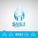Сохраньте экологичность концепции вектора воды Стоковое Изображение