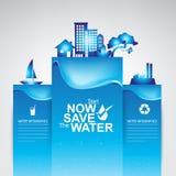 Сохраньте экологичность концепции вектора воды Стоковые Фото