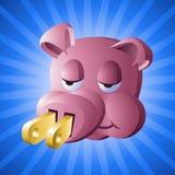 Сила Piggy: Относящая к окружающей среде награда вялости Стоковая Фотография