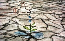Сохраньте эскиз воды стоковые изображения