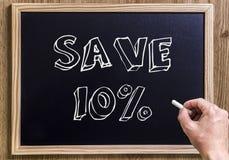 Сохраньте 10% Стоковое Изображение RF