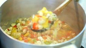 Сохранять овощи на зима сток-видео