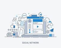 Социальная иллюстрация вектора сети бесплатная иллюстрация