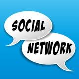Социальная концепция пузырей речи сети Стоковые Изображения