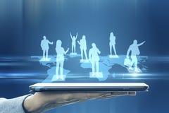 Социальная концепция сети и связи стоковое фото rf