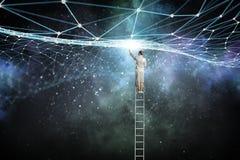 Социальная концепция соединения бесплатная иллюстрация