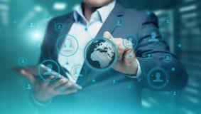 Социальная концепция технологии дела интернета коммуникационной сети средств массовой информации Стоковые Изображения RF