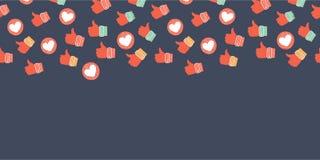 Социальная предпосылка значков сети иллюстрация вектора