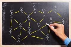 Социальная принципиальная схема сети или сыгранности Стоковое Изображение