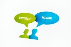 Социальная принципиальная схема средств Стоковые Фото