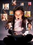 Социальная сеть Стоковое Изображение