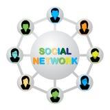 Социальная сеть Стоковое Фото