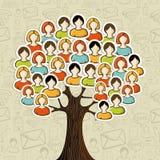 Социальное дерево сетей средств иллюстрация штока