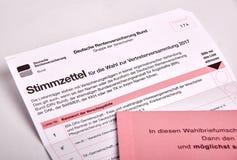 Социальное избрание в Германии - Sozialwahl стоковые изображения rf