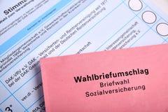 Социальное избрание в Германии - Sozialwahl стоковое фото rf