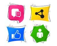 Социальные значки средств массовой информации Пузырь и доля речи болтовни вектор иллюстрация вектора