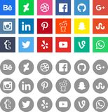 Социальные логотипы знака сети средств массовой информации стоковые изображения