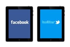 Социальные сети на IPad 3 Стоковая Фотография