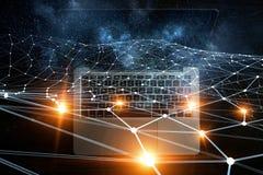 Социальные соединение и сеть Мультимедиа Стоковые Изображения