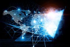 Социальные соединение и сеть Мультимедиа Стоковые Фото