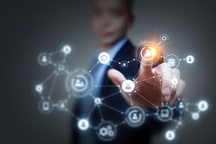 Социальные соединение и сеть перевод 3d стоковое изображение