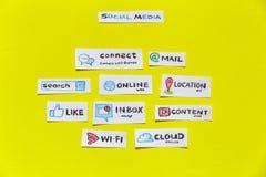 Социальные средства массовой информации и социальная концепция сети Стоковое Изображение RF