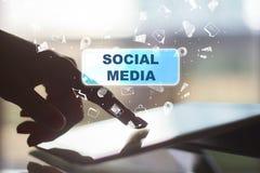 Социальные средства массовой информации, мастерская и концепция представления стоковые изображения