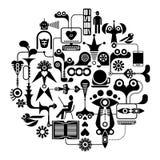 Социальные средства - иллюстрация вектора Стоковая Фотография RF
