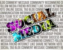 Социальные средства Стоковое Изображение