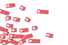 Социальные счетчики средств массовой информации Стоковые Фото