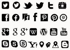 Социальный вектор средств массовой информации Стоковое Изображение RF