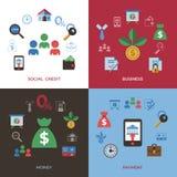 Социальный кредит и кренить значки оплаты бесплатная иллюстрация