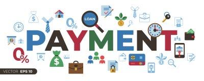 Социальный кредит и кренить значки оплаты иллюстрация штока