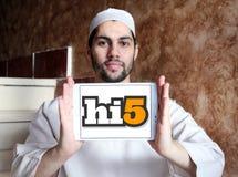 Социальный логотип места сети Hi5 Стоковая Фотография RF