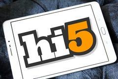 Социальный логотип места сети Hi5 Стоковое Изображение RF