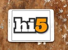 Социальный логотип места сети Hi5 Стоковые Изображения RF