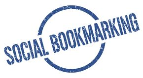 социальный bookmarking штемпель иллюстрация вектора