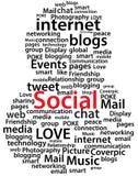 Социальный typography иконы потребителя. бесплатная иллюстрация