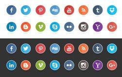 Социальная кнопка средств массовой информации Стоковое Изображение