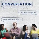 Социальная концепция графика текста пузыря речи сети Стоковая Фотография RF