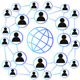 Социальная концепция сети, вектор Стоковая Фотография