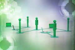 Социальная концепция сети и средств массовой информации Стоковые Изображения