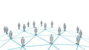 Социальная концепция сети на белой предпосылке Стоковые Фотографии RF