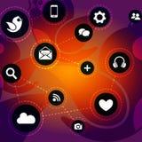 Социальная концепция сети иллюстрация вектора