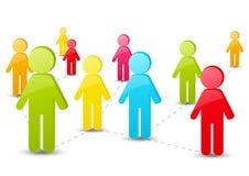 Социальная концепция средств массовой информации иллюстрация вектора