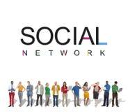 Социальная концепция технологии интернета сетевого подключения Стоковая Фотография RF