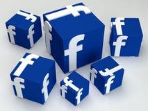 Социальная коробка facebook средств массовой информации Стоковое Изображение